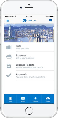 Mobile Travel Booking Expense Report And Invoice App SAP Concur - Invoice to go app android