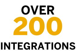 over 200 integrations